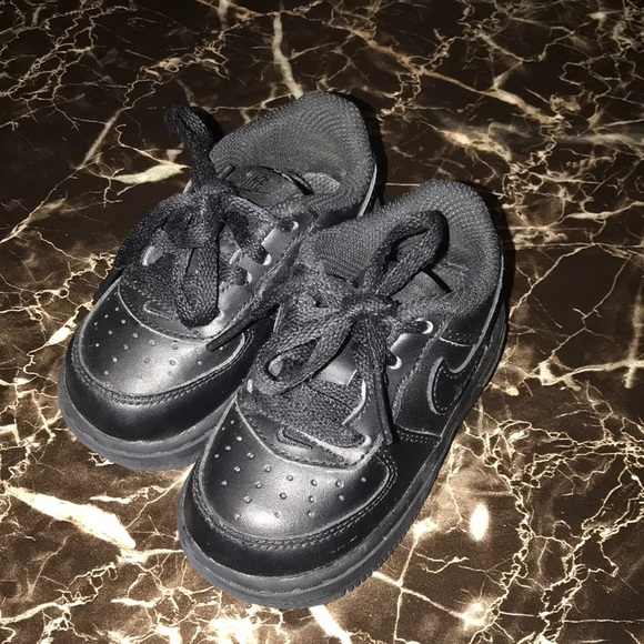 Nike Air Force One baby size 5c all black low top